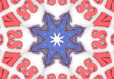 Abstract  Ethnic pattern kaleidoscope stock video