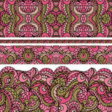 Abstract ethnic pattern seamless border.Cute Stock Photo