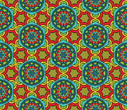 Abstract Ethnic Pattern. Seamless geometric ethnic pattern. Abstract African pattern in vivid colors. Fancy multicolored background ornament Royalty Free Stock Images