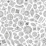 Abstract ethnic pattern. Seamless abstract or tribal ethnic pattern, vector illustration Royalty Free Stock Photography