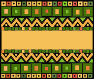 Abstract ethnic pattern of squares and triangles.Vector Royalty Free Stock Images