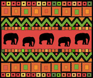 Abstract ethnic pattern of squares and triangles.Vector vector illustration