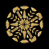 Abstract ethnic round ornamental pattern Stock Photos