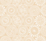Abstract Ethnic Seamless Background. Floral Line Texture. Stock Photos