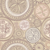 Abstract Ethnic Seamless Background. Floral line texture. Royalty Free Stock Image