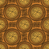Abstract Ethnic Seamless Background. Floral line texture. Abstract geometric kaleidoscope seamless background. Ethnic seamless texture. Seamless pattern. Floral Royalty Free Stock Photography