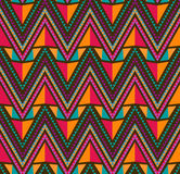 Abstract Ethnic Seamless Geometric Pattern Stock Photo