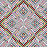Abstract Ethnic Seamless Geometric Pattern Stock Images