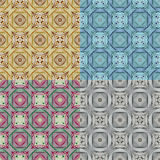 Abstract Ethnic Seamless Geometric Pattern Stock Photo