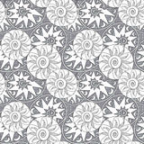 Abstract ethnic seamless geometrical pattern  background. Abstract ethnic seamless geometrical pattern grey background Stock Image