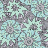 Abstract ethnic seamless geometrical pattern  background. Abstract ethnic seamless geometrical pattern grey background Royalty Free Stock Photography