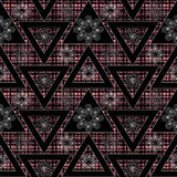 Abstract ethnic seamless geometrical pattern bright elements background Royalty Free Stock Image