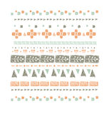 Abstract ethnic seamless pattern in style of primitive culture. Ethnic background. Stock Images