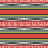 Abstract ethnic seamless pattern, vector illustration, ornamental background. Ornate horizontal multicolor colorful tracery for fa. Bric design, textiles stock illustration