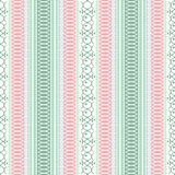 Abstract ethnic seamless pattern, vector illustration, ornamental background. Ornate vertical tracery in pink, green, violet and w. Hite colors for fabric design vector illustration
