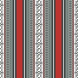 Abstract ethnic seamless pattern, vector illustration, ornamental background. Ornate vertical tracery in red, gray, black and whit. E colors for fabric design royalty free illustration