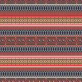 Abstract ethnic seamless pattern, vector illustration, vintage ornamental background. Ornate horizontal multicolor colorful tracer. Y for fabric design, textile vector illustration