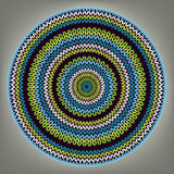Abstract Ethnic Style Circle Simple Vector Royalty Free Stock Photo
