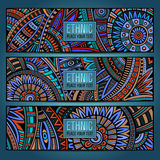 Abstract ethnic vintage pattern cards Royalty Free Stock Photography