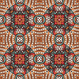 Abstract ethnic vintage seamless pattern. Geometric mosaic background Royalty Free Stock Photos
