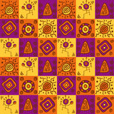 Abstract ethnical african seamless pattern Royalty Free Stock Images
