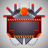 Abstract etiket sc.i-FI Stock Fotografie