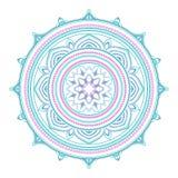 Abstract etnisch gekleurd mandala sierpatroon De unieke oosterse elementen van het stijlhand getrokken ontwerp Royalty-vrije Stock Afbeeldingen