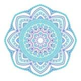 Abstract etnisch gekleurd mandala sierpatroon De unieke oosterse elementen van het stijlhand getrokken ontwerp Stock Foto