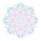 Abstract etnisch gekleurd mandala sierpatroon De unieke oosterse elementen van het stijlhand getrokken ontwerp Stock Foto's