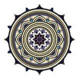 Abstract etnisch gekleurd mandala sierpatroon De unieke oosterse elementen van het stijlhand getrokken ontwerp Royalty-vrije Stock Afbeelding