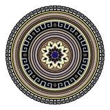 Abstract etnisch gekleurd mandala sierpatroon De unieke oosterse elementen van het stijlhand getrokken ontwerp Royalty-vrije Stock Foto's