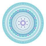 Abstract etnisch gekleurd mandala sierpatroon De unieke oosterse elementen van het stijlhand getrokken ontwerp Stock Afbeeldingen