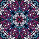 Abstract etnisch mandala bloemenpatroon sier Royalty-vrije Stock Afbeelding