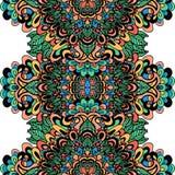 Abstract etnisch ornament Aziatisch patroon Kleurrijke authentieke achtergrond Vector illustratie Mandala Print Stock Foto