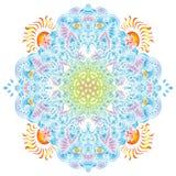 Abstract etnisch ornament Vakantiepatroon Kleurrijke gradiënt authentieke achtergrond Vector illustratie De zomer Mandala Stock Afbeelding