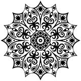 Abstract etnisch zwart-wit patroon Mandala Pattern Royalty-vrije Stock Foto