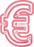Abstract euro die Symbool met rode teller wordt gemaakt Stock Illustratie