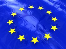 Abstract euro flag. 3d illustration of abstract background with european union symbols Stock Photo