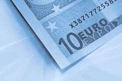Abstract euro money background Royalty Free Stock Photography