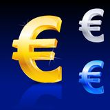 Abstract euro sign Stock Photography