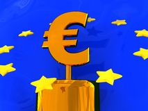 Abstract euro symbol Royalty Free Stock Images