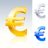 Abstract euro teken Stock Afbeeldingen