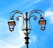 abstract Europa in de hemel van de lantaarn en de verlichting van Italië Royalty-vrije Stock Fotografie