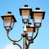abstract Europa in de hemel van de lantaarn en de verlichting van Italië Stock Foto's