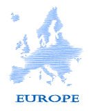 Abstract Europe silhouette. Stock Photos