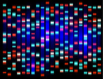 An abstract example of DNA fingerprinting, Stock Image