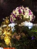 Abstract Exclusief purper gouden veelhoekbehang Royalty-vrije Stock Fotografie