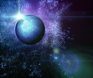 Abstract exoplanet. Abstract universe and exoplanet with star Royalty Free Stock Photo