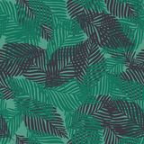 Abstract exotic tropical plant seamless pattern. Tropical pattern. Palm leaves seamless vector background royalty free illustration