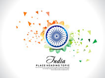 Abstract exploaded indian republic day background with floral Royalty Free Stock Photo